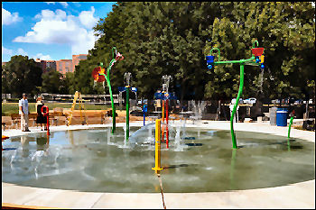Sprayground in Virginia Highlands Park Arlington, Virginia