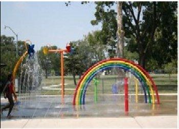 Spray park located in Andrews Park, Norman, OK