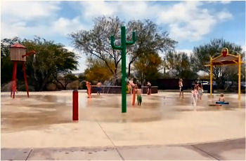 Splash Pad in Anthem, Arizona.