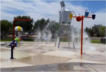 Splash Pad in Queen Creek, Arizona