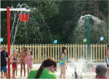 Spray Park in Bryant, Arkansas.
