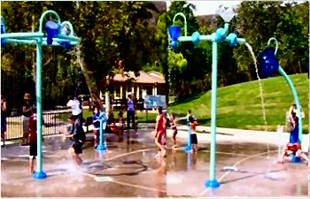 Splash Pad in Oak Park, California