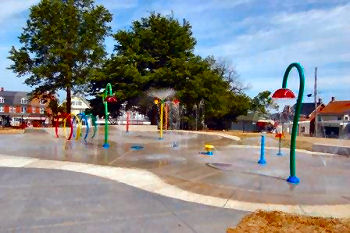 Splash Pad in Fairmount Park Red Lion, Pennsylvania