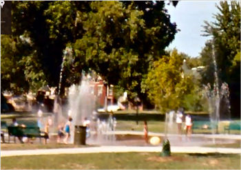 Splash Pad in Louisville, Kentucky.