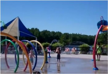 Splash Pad in Lansing Charter Township, Michigan