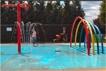 Fun Splash Pad in Colchester, Connecticut