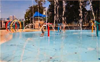 City Park Splash Pad in Manhattan, Kansas.