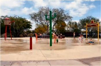 Splash Pad in Anthem, Arizona.